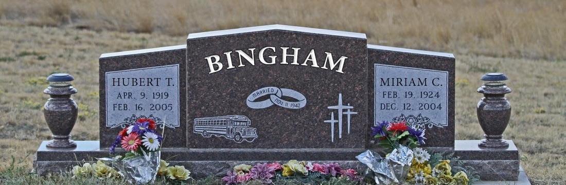 Custom Monuments, Benches & Grave Markers